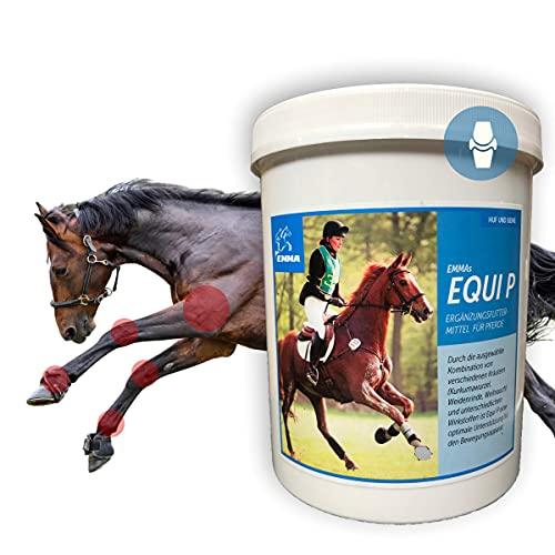 EMMA MSM Powder Horse I Willow Bark Frankincense Meadowsweet Glucosamine Ginger Turmeric Chondroitin I Per Joint Bone Ligaments & Tendons I More Movement Joy Senior Horses 750 g