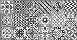 Vilber Toledo DU 05 40X78 Alfombra, Vinilo, Negro/Gris-05, 40 x 78 x 0.22 cm