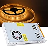 Weikeya Fuente de alimentación del Interruptor Estable, Transformador de Cobre Metal y componentes ± 0.5V 400 W