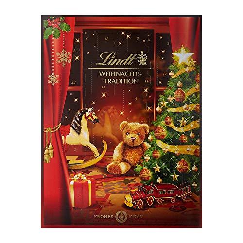 Lindt Weihnachts-Tradition Adventskalender (24 verschiedene Pralinés- und Schokoladen-Überraschungen) 253g