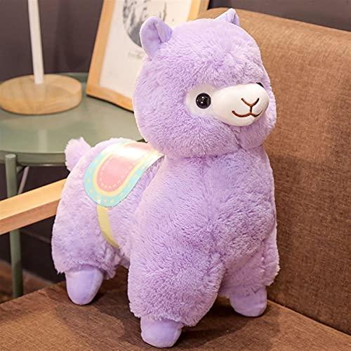 Makluce Llavero de Alpaca 50 cm Peluche de Alpaca Peluche Llama Llavero de Llama, Ragdoll Doll Alpaca Llush Toy Muñeca Muñeca Cojín para Dormir (Color : Purple, Size : 50CM)