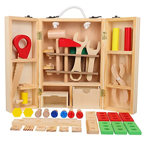 Artibetter Kinder Werkzeug Kit Holz Werkzeug Box Gebäude Spielzeug Set Kids BAU Spielzeug Pädagogisches Toolbox für für Jungen Mädchen Indoor Outdoor Spielzeug