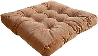 WZHZJ Corduroy Tatami Cushion Futon Plush Thickening Floor Bay Window Balcony Yoga Hip Cushion (Color : Brown, Size : 55x5...
