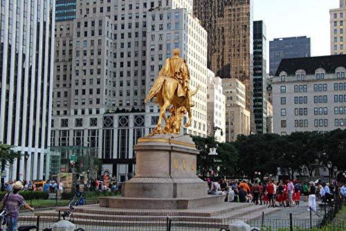 Puzzle Jigsaw Rompecabezas 500 Piezas Estatua del General Sherman En El Escenario De Grand Army Plaza De Central Park para Amigo Regalo De Cumpleaños Familiar para Niños
