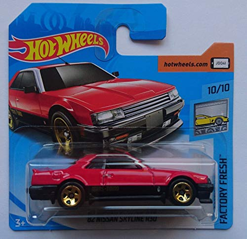 HOT Wheels '82 Nissan Skyline R30 Short Card Rare RED Factory Fresh 10/10