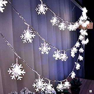 LED Fairy Lights String Christmas Snowflake Christmas Tree Decorated with Garlands New Year Bedroom Valentine's Day AXCDE ...