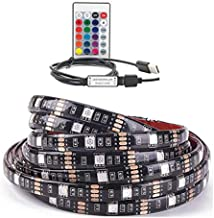 LED Strip Lights Kit Waterproof with 24 Key Remote Controller Flexible Changing Multi-Color Lighting Strips for TV, Room 2...