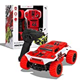 SHARPER IMAGE Toy RC Monster Baja Truck 6MPH All-Terrain Children's Remote Control 2.4 GHZ Omnidirectional Car for Boys/Girls, RC Race Truck, for Two-Vehicle Fun, 65 Foot Max Range, Red/White