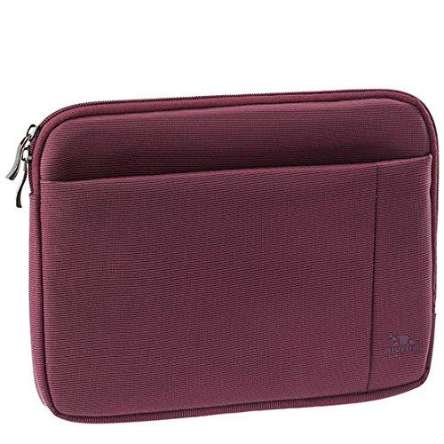 """RIVACASE Tasche für Tablets bis 10.1"""" – Superflache Hülle mit Doppelreißverschluss & zusätzlicher Außentasche für Zubehör - Lila"""