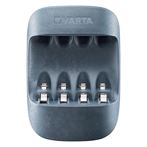 VARTA Eco Charger (apto para 4 pilas AA/AAA, carcasa hecha de 50% de bioplástico con una sola ranura y carga de mantenimiento, embalaje de 90% de material reciclado