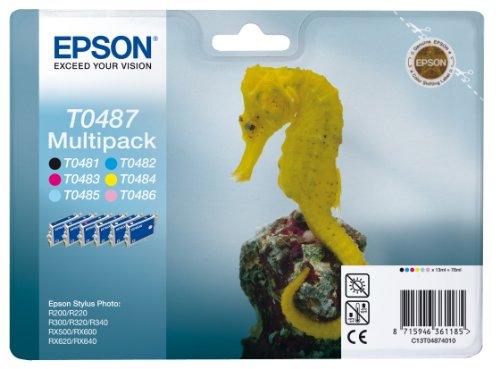 Epson T0487 Tintenpatrone Seepferd, Multipack 6-farbig