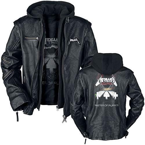 Metallica Master Of Puppets Männer Lederjacke schwarz L 100% Leder Band-Merch, Bands