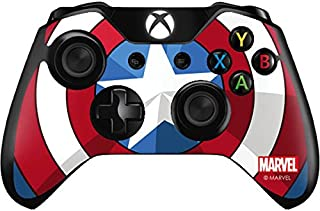 Skinit Decal Gaming Skin for Xbox One Controller - Officially Licensed Marvel/Disney Captain America Emblem Design