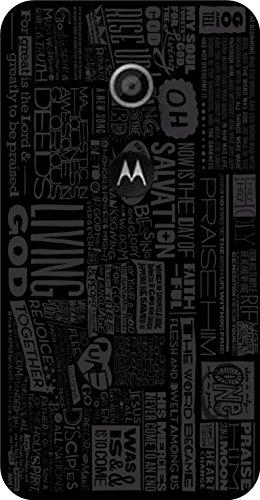 Shengshou Pattern Design Mobile Back Cover for Motorola Moto E1 1st Gen - Black