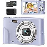 Compactas Cámaras Digitales 1080P 36 MP Camara Compacta con 16X Zoom Digital,Cámara de Fotos con...