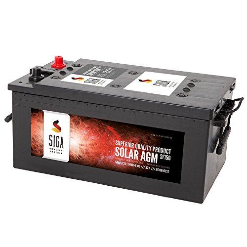 AGM Batterie 150Ah Solarbatterie Versorgungsbatterie 130Ah 140Ah