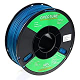 OVERTURE ABS Filament 1.75mm, ABS 1kg Spool (2.2lbs),3D Printer Consumables,Dimensional Accuracy +/- 0.05 mm, Fit Most FDM Printer (Blue)