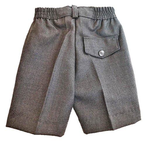 EL PATIO DE MI COLE Pantalón Corto Gris Uniforme Escolar (Cintura elástica) 45% Lana 55% Poliéster - Fabricación Española