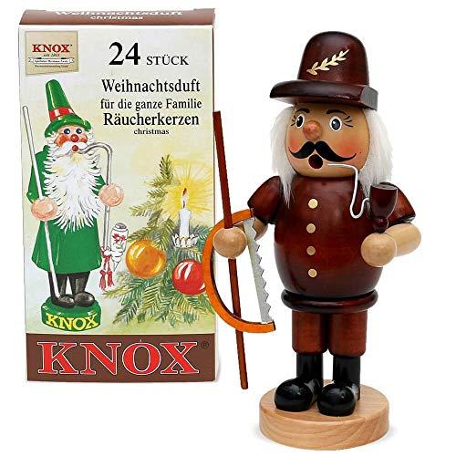 matches21 Rookmannetje Rookmannetje Kerstmis Advent hout 24 cm incl. wierookkaarsen - veel ontwerpen en beroepen bosbewerker zaag