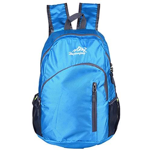 Huien 20L grote capaciteit waterdichte rugzak tas rugzak bergbeklimmen tas vrouwen reistassen rugzak heren opvouwbare sporttas, blauw