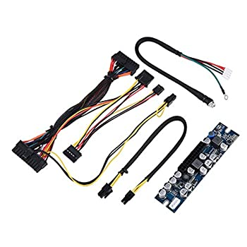 PC PSU DC 12V Input 300W Computer Power Supply Module with 24Pin Connect/AUX/SATA Cable Suitable for Mini-ITX and 1U Chassis