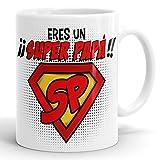 REGALOS ESTRELLA AZUL Taza Super papá día del Padre Regalo para Papa, Papa te Quiero, al Mejor...