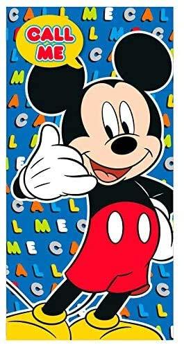 Various Toalla de Playa Infantil con Licencia Oficial Disney (Mickey Mouse Call me)