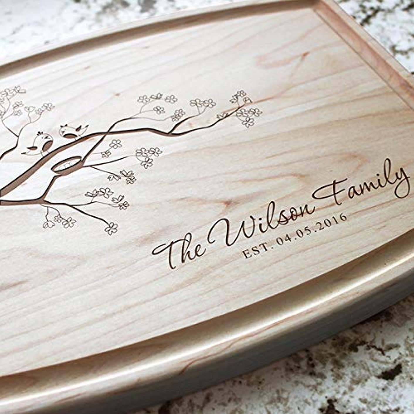 Family Tree of Life Personalized Cutting Board - Engraved Cutting Board, Custom Cutting Board, Wedding Gift, Housewarming Gift, Anniversary Gift, Engagement W-037GB