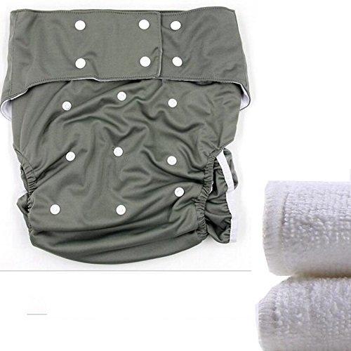 Yotown Adultos pa/ñales de Tela Ajustado pa/ñal de pa/ñal Reutilizable y Ropa Interior Protectora de Cuidado de incontinencia Adecuado para Hombres Mujeres Adolescentes 2Pcs Diaper Insert Pad
