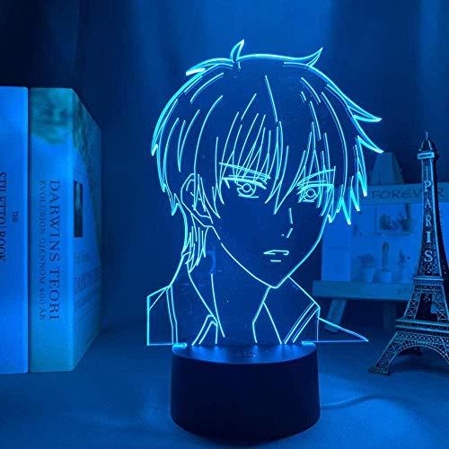 Ilusión 3D luz de noche LED Anime cesta de frutas Manga7 colores luz de noche de bebé que cambia de color decoración interior niños niñas niños regalo-16 color remote control