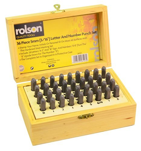 Rolson 26127 Letter and Number Punch Set - 36 Pieces