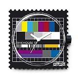 S.T.A.M.P.S. Stamps Montre–Cadran Test Pattern Complet avec Bracelet en Cuir Classic Rouge