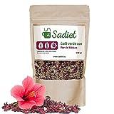 Café verde con Flor de hibisco 300 gr, infusión diurética y saciante