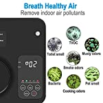 [Upgraded] TREKOO Ozone Generator Air Purifier Ionizer Home Odor Remover Deodorizer for Bedroom Living Room Restroom… 16 【REMOVE TOUGH ODORS】 - This TREKOO ozone generator creates O3 which breaks down odors. Odor eliminator removes any odors for your rooms, hotels, offices, kitchens and cars such as cigarette smoke, pet odors, cooking odors, and other airborne irritants. 【NEGATIVE ION GENERATOR】 - Air cleaner refresher releases Negative Ions to purify and refresh room air up to about 166 square footage. Emitting up to 1 million negative ions per second, this negative ion machine provides you with cleaner, safer, and overall better air quality that your health deserves. 【AUTO SENSOR OPERATION】 - Saving your electricity bill. This air purifier has sensing operation. When it senses people or pets in the room, deodorizer generates ozone and negative ion for 2min every 4min. If it senses nobody, it will switch to Sleep Mode to save energy after 3 working frequecies for 2 hours and then works again. For Generation 2, it has a more powerful Manual Mode to remove tough odors in unoccupied areas. (Notice: Please read the Instructions before using Manual Mode)