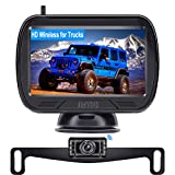 AMTIFO W3 HD Digital Wireless Backup Camera with Monitor Kit,Hitch Rear View Camera for Trucks,Cars,SUVS,Campers,DIY Guide Lines,Flip Image
