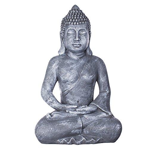 Buddha B4001, für Innen und Außen, Buddha Figur XXL 64cm hoch , Buddha Statue groß, Büste, Gartendekoration, Wetterfest (nicht frostsicher) aus Kunststein (Polyresin) sehr aufwendig per Hand bemalt, sehr feine Strukturen
