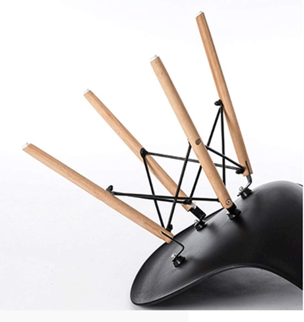 HEJINXL Chaise de salle à manger en plastique avec dossier en hêtre tabouret pour chambre à coucher, maquillage chaise de salon à domicile ordinateur D