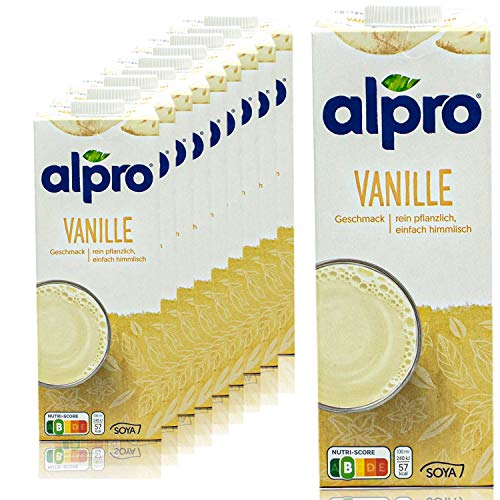 Alpro - 10er Pack Sojadrink Vanille 1 Liter - Soja Soya Drink 100 {e93e28fc5aad903fc251bb3217b0d6170c7b133b7029d904fc7292a7a523cf54} pflanzlich