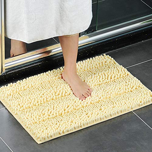 Alfombrilla de baño amarilla antideslizante lavable (50 * 80cm)
