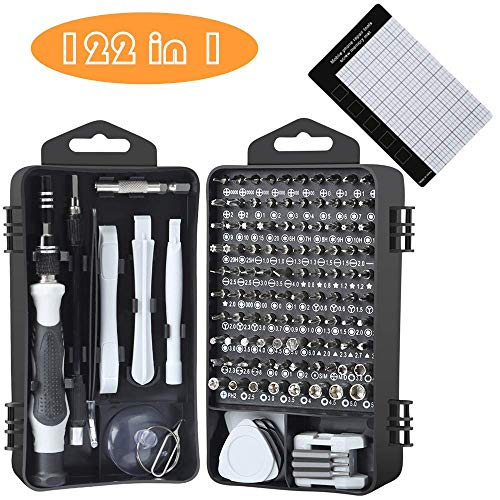 Precision Screwdriver Set, E.Durable 122 in 1Magnetic Screwdriver Bit Set Electronic Tool Kit with Case for Eyeglasses Watch iPhone Nintendo Switch Camera Computer Repair Kit