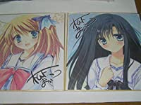 PriministAr 複製サイン色紙 松下まかこ 色紙2枚セット/品