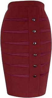 Skirts Women Solid Slim Ball Gown High Waist Skirt