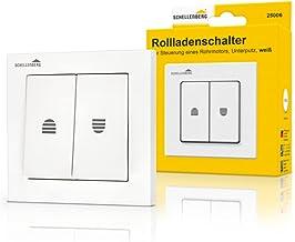 Schellenberg 25006 rolluikschakelaar dubbele tuimelschakelaar voor inbouwmontage, inbouwdiepte ca. 25 mm