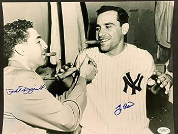 Authentic Autographed Phil Rizzuto Yogi Berra Photo JSA COA 11x14 Autograph Godfather Cigar HOF