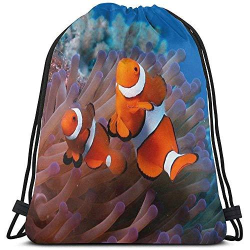 Arrecfe de zee vissen Coral Anemone zee Landschap rugzak met trekkoord gepersonaliseerde tas sporttas gymtas outdoor