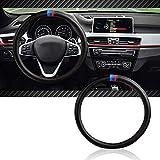 InSassy Steering Wheel Cover M Sport Carbon Fiber Look for BMW 3 Series 5 Series Cars – Motorsport Edition Accessories for E39 E46 E89 E70 E90 E92 F10 F30