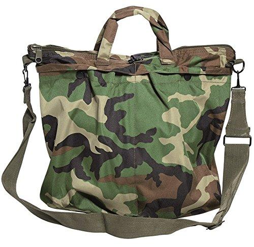 Mil-Tec, borsa per casco con cinghia da aviatore statunitense, 13826020, - Woodland