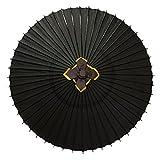 特注番傘 実用番傘 雨傘 防水加工 … (黒)