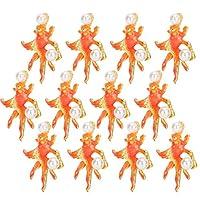 ブライダルヘアデコレーション、ユニークな外観の衣服ボタン 12個ダンスウェディングのための美しい宴会セレモニー(Small goldfish)