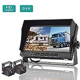 Backup Camera and Monitor Kit, AHD 1080P Reverse Camera with 7'' Dual Split